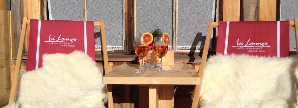 Neu – die Isi Lounge – ein Platz an der Sonne